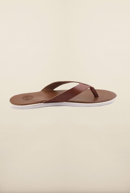 US Polo Assn. Cognac Tan Leather Slipper