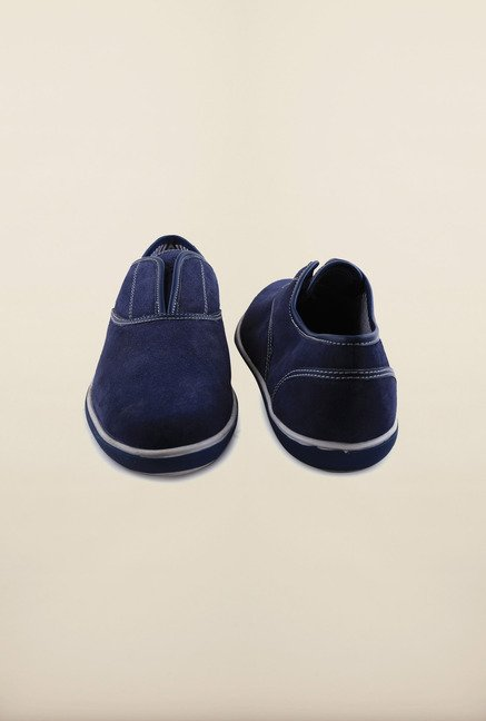 Arrow Navy Suede Leather Slip-Ons Shoes