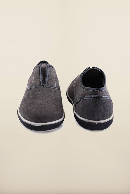 Arrow Anthracite Suede Leather Slip-Ons Shoes