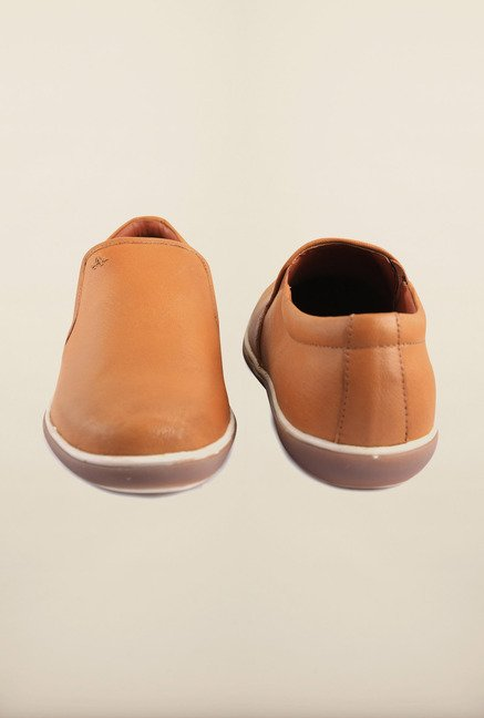 Arrow Tan Leather Slip-Ons Shoes