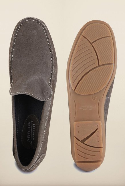 Arrow Brown Leather Loafers