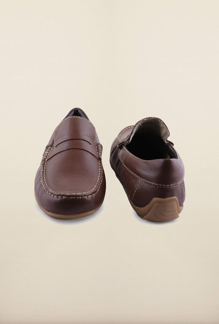 Arrow Cognac Leather Loafers