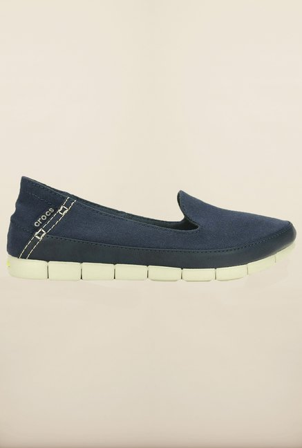 Crocs Stretch Sole Navy & Stucco Loafers