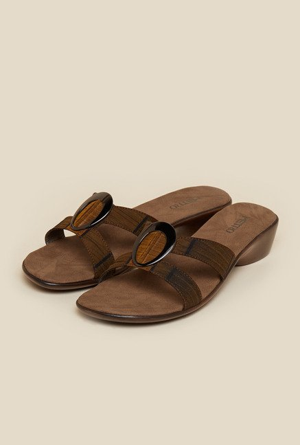 Metro Tan Slip-On Flat Sandals