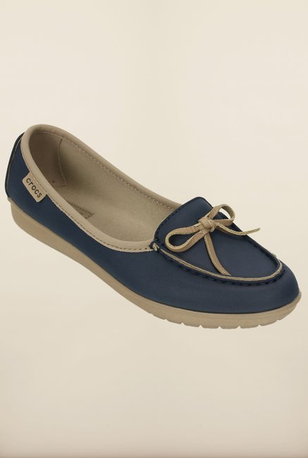 Crocs Wrap Color Lite Ballet Navy and Tumbleweed Loafer