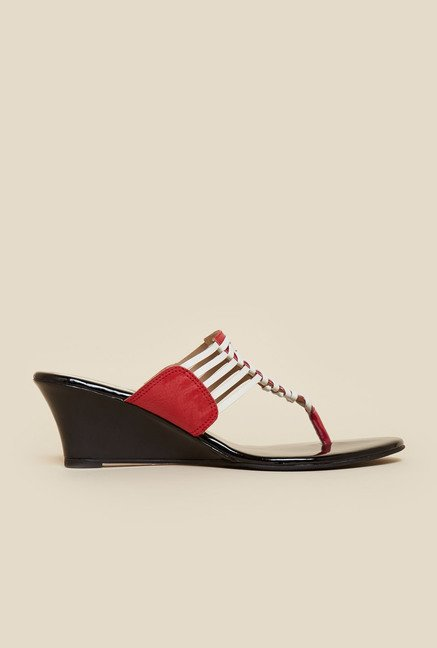 Metro White And Red Wedges