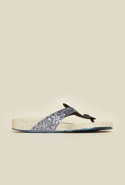 Metro Gun Metal Thong Sandals