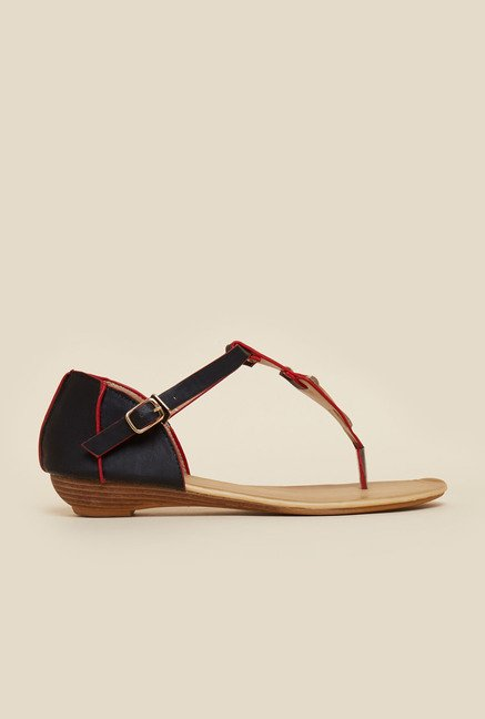 Metro Black And Red Sandals