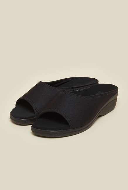 Metro Black Back Open Sandals
