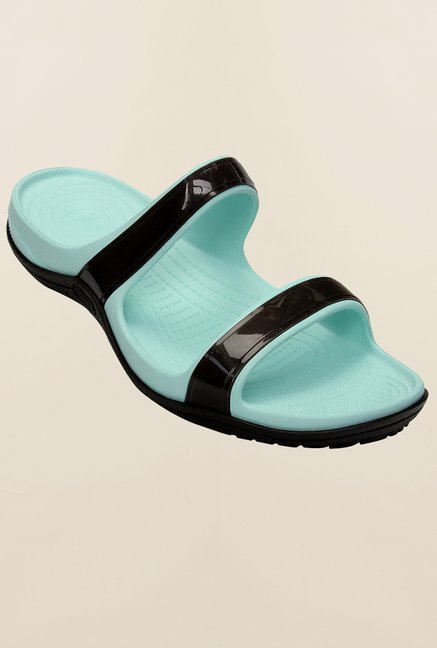 Crocs Patra II Espresso & Sea Foam Slide Sandals