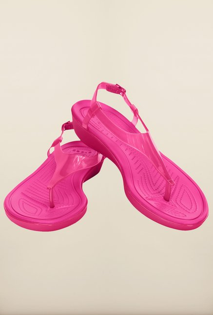 Crocs Really Sexi Candy Pink T-Strap Sandals