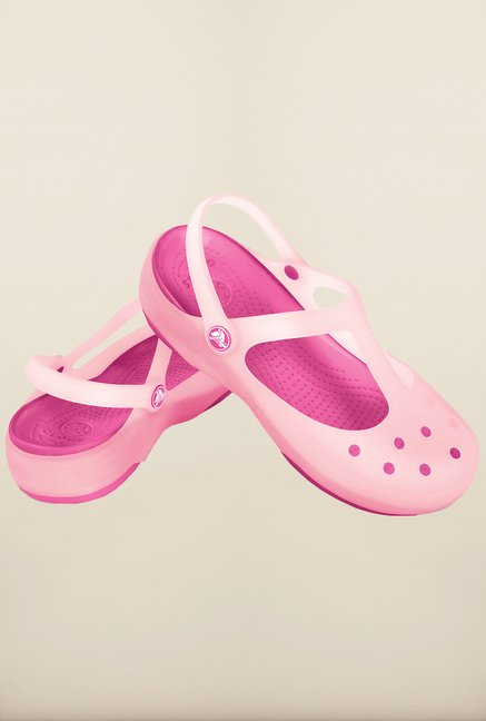 Crocs Carlie Cotton Candy & Fuchsia Clogs