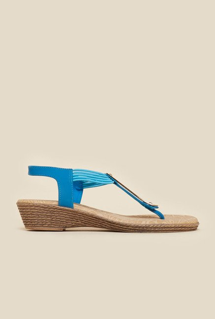 Metro Blue Wedge Sandals