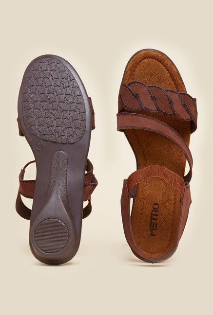 Metro Brown Suede Sandals
