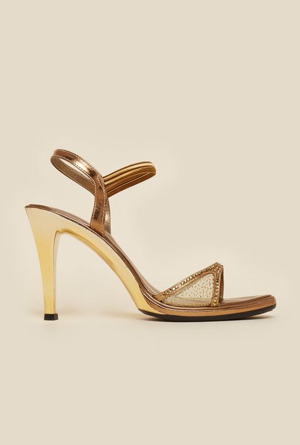 Metro Antic Gold Stiletto Heels