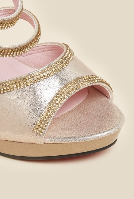 Metro Gold Rhinestone Sandals