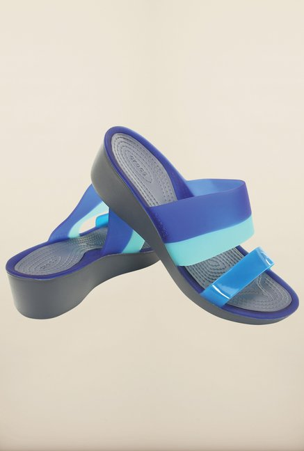 Crocs Storm & Cerulean Blue Sandals