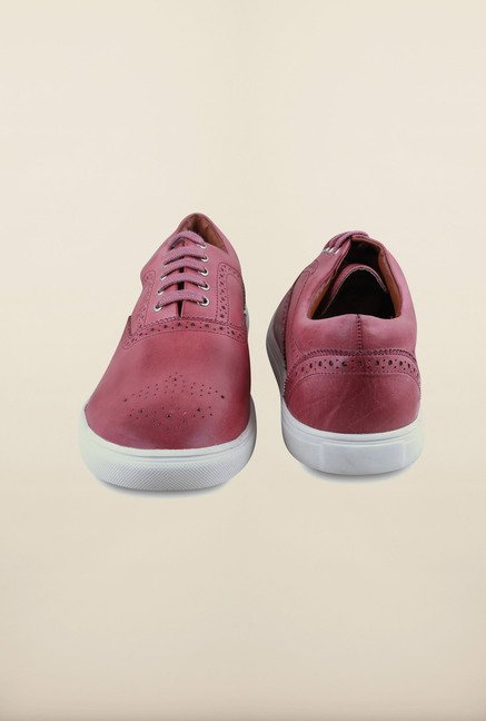 US Polo Assn. Red Leather Lace Up Sneakers