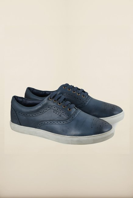 US Polo Assn. Navy Leather Lace Up Sneakers