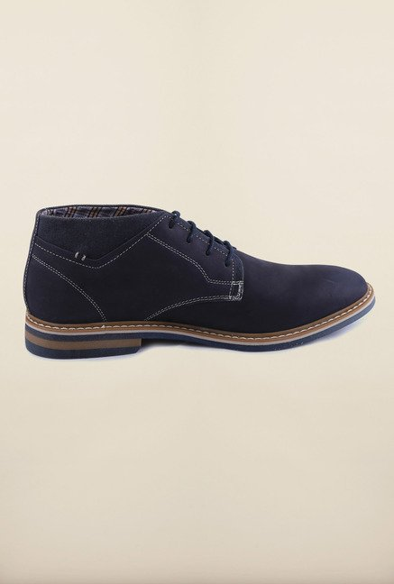US Polo Assn. Navy Leather Lace Up Shoes