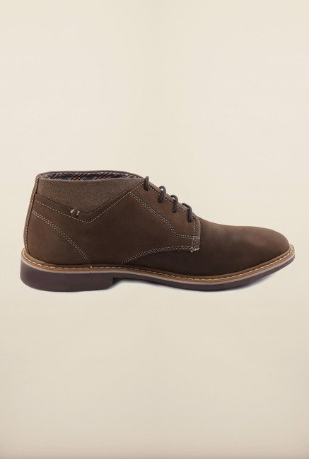 US Polo Assn. Brown Leather Lace Up Shoes