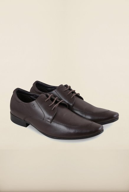 Arrow Brown Leather Lace Up Formal Shoes