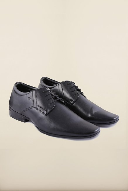 Arrow Black Leather Derby Lace Up Formal Shoes
