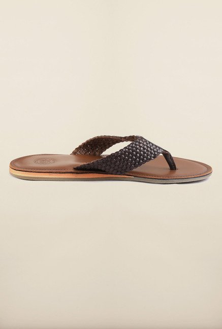 US Polo Assn. Brown Leather Slipper