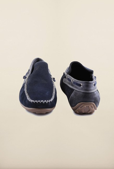US Polo Assn. Navy Leather Loafers