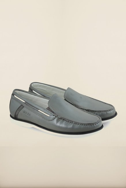 US Polo Assn. Grey Leather Loafers