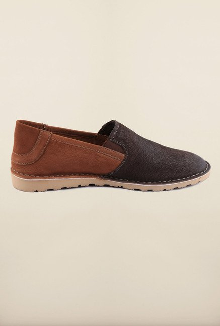 US Polo Assn. Brown Leather Slip-Ons Loafers