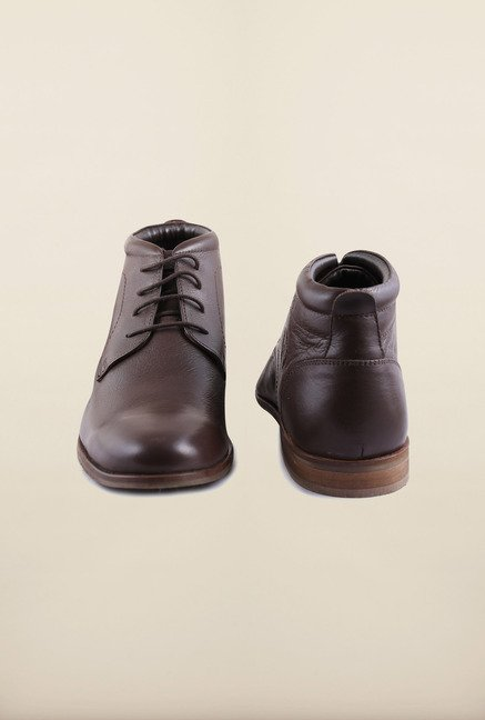 Arrow Brown Leather Chukka Ankle Boots