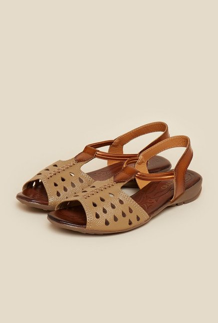 Metro Beige Cut Work Sandals