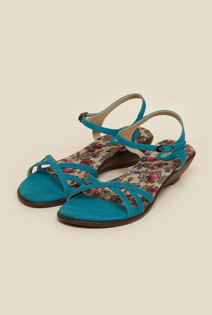 Metro Turquoise Wedge Sandals
