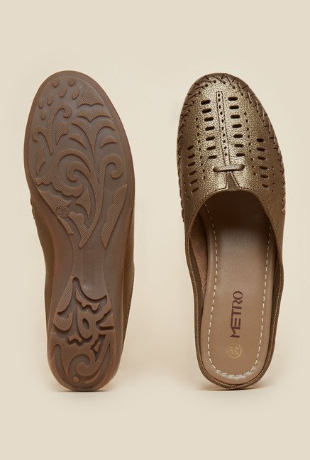 Metro Bronze Back Open Sandals