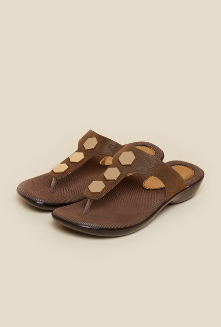 Metro Chikoo Slip-On Sandals