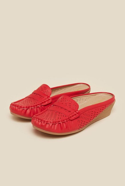 Metro Red Back Open Sandals