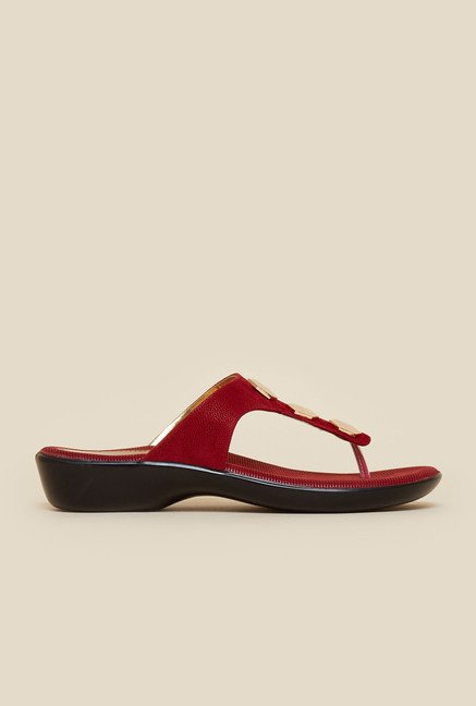 Metro Maroon Slip-On Sandals
