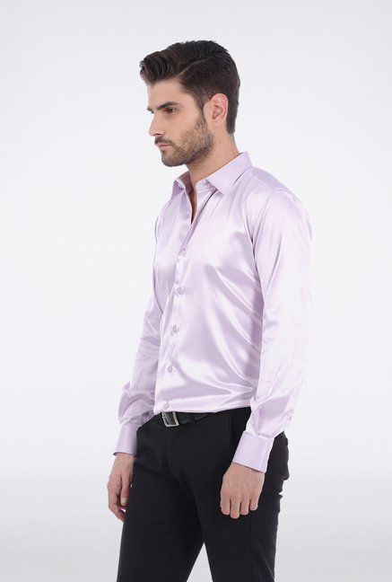Basics Lilac Slim Fit Formal Shirt
