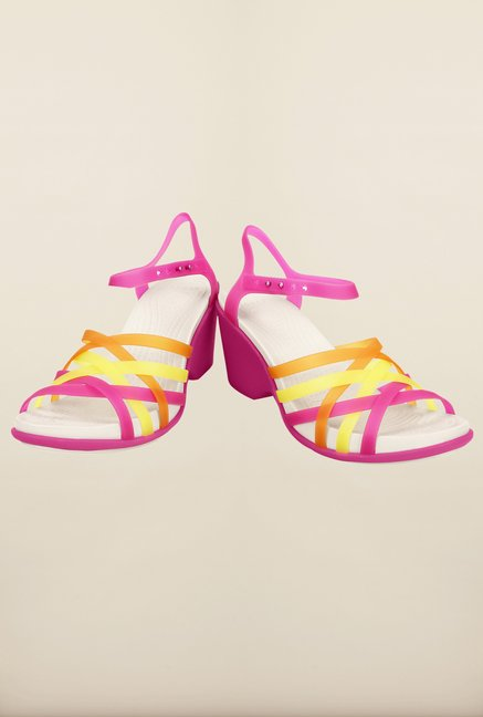 Crocs Fuchsia & Grapefruit Sandals