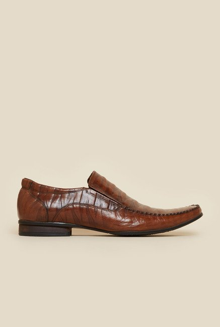 Da Vinchi by Metro Brown Zig-Zag Pattern Moccasin