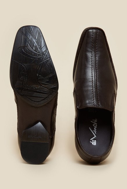 Da Vinchi by Metro Dark Brown Formal Leather Shoes