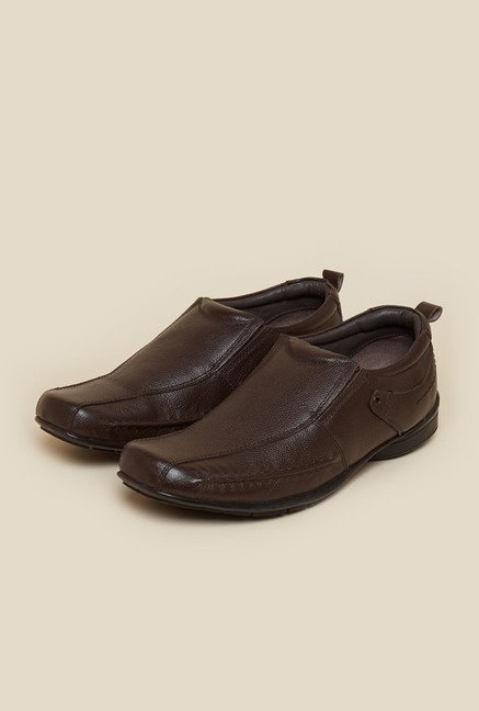 Metro Brown Leather Loafers