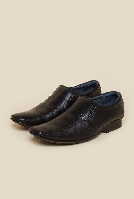 Metro Black Formal Slip-On Moccasin