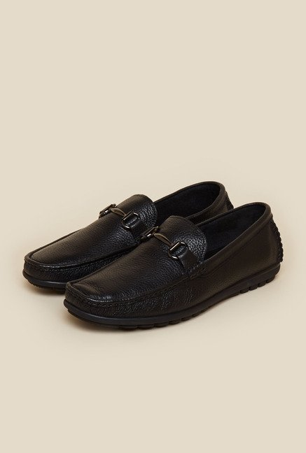 Da Vinchi by Metro Leather Black Moccasin