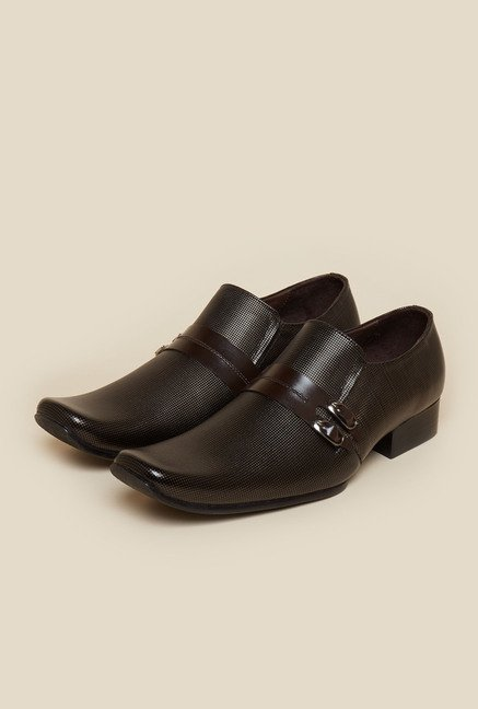 Metro Brown Double Buckle Moccasin