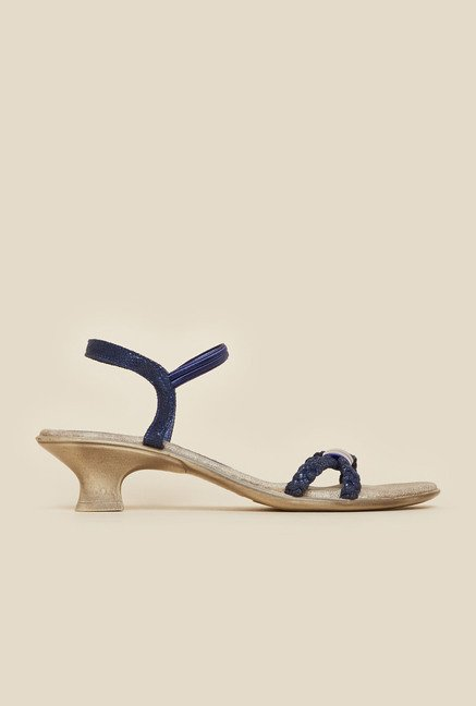 Metro Blue Kitten Heel Sandals