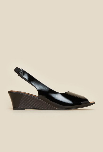 Metro Black Peep Toe Sandals