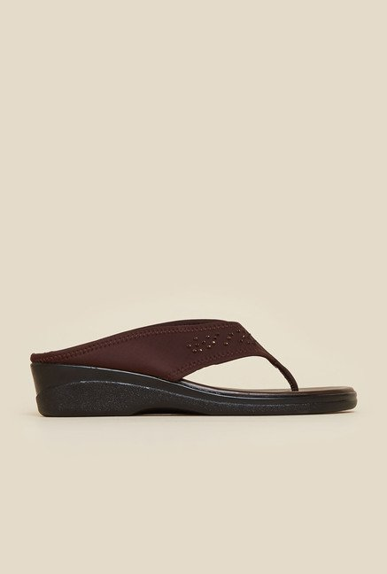 Metro Brown Casual Slip-On Sandals