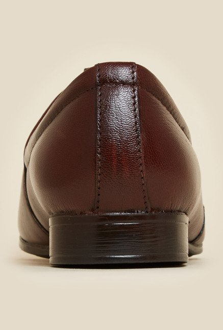 Metro Maroon Leather Shoes